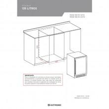 Frigobar 135 litros Built-in Inox e porta de vidro Elettromec 127V/220V