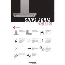 Coifa Adria Parede Elettromec 90cm 220V Gourmet Titanium