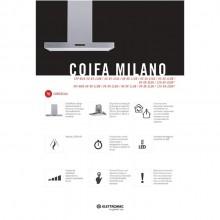 Coifa Milano Ilha Elettromec 120cm 220V Titanium Gourmet