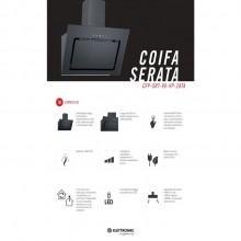 Coifa Serata Parede Elettromec 90cm 220V Gourmet Preta