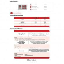 Cooktop Quadratto Gás 5 Bocas 90cm Bivolt Elettromec Titanium