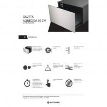 Gaveta Aquecida Inox 30cm 220V Elettromec