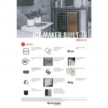Ice Maker Máquina de Gelo de Chão Built-in 127V Elettromec