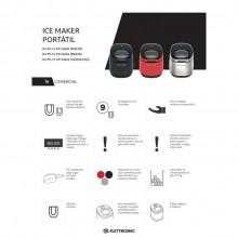 Ice Maker Portátil 127V/220V preta ou prata Elettromec