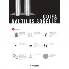 Coifa Conjunto Nautilus Ilha Elettromec 120cm 220V Titanium