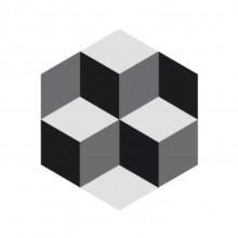 Ladrilho Hidráulico Hexagonal Gobeto 2 | 15x17cm / 20x23cm
