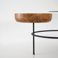 Mesa de Centro Bowl Fyp Design Eduardo Vale Madeira Aço