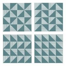 Azulejo Stripes Triângulo Cheio Design Márcio Pontes Vizta