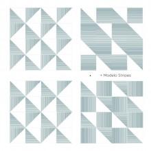 Azulejo Stripes Triângulo Design Márcio Pontes Vizta 15x15