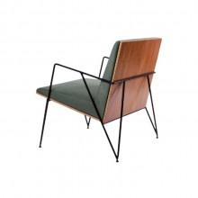 poltrona moderna design assinado minimalista confortável madeira estofada