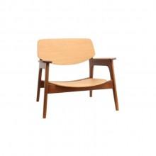 poltrona larga madeira laminada design assinado minimalista rodrigo delazzeri