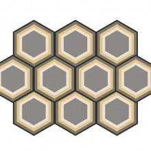 Revestimento Ladrilho Hidráulico Hexagonal Colméia Ladrilar