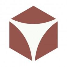 Revestimento Ladrilho Hidráulico Hexagonal Bola Ladrilar