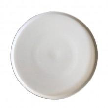Prato Cerâmica Artesanal para Refeição Principal com Borda