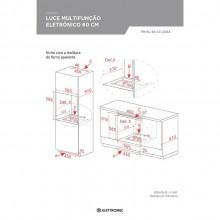 Forno Luce Eletrônico Multifunção 60cm 220V Elettromec