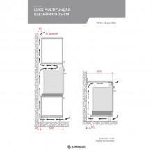 Forno Luce Multifunção Eletrônico 75cm 220V Elettromec